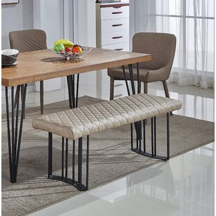 Dupont Faux Leather Dining Bench by Mercury Row