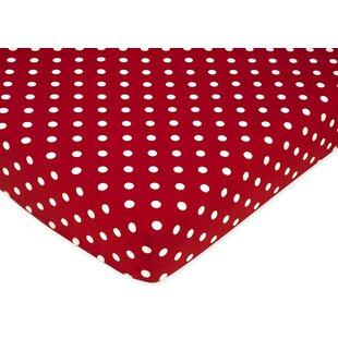 Little Ladybug Polka Dot Fitted Crib Sheet BySweet Jojo Designs