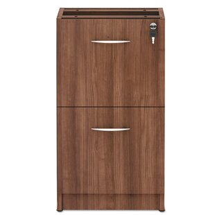 Alera Valencia Series Full Pedestal 2-Drawer Vertical Filing Cabinet