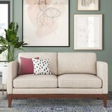 Cartwright 61.75 Square Arm Loveseat by Joss & Main