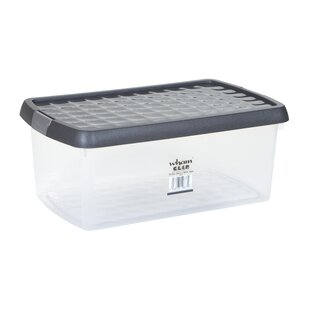 10.5 L Clip Plastic Storage Box (Set Of 3) By Symple Stuff