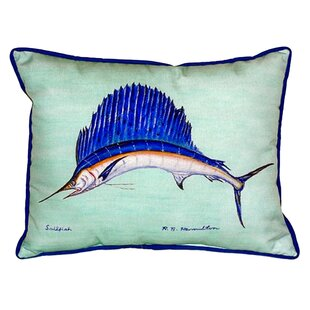 Zoe Sailfish Indoor/Outdoor Lumbar Pillow