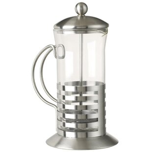 5th Avenue Stainless with Glass French Press Coffee Maker