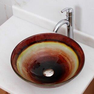 Great Price Elite Glass Circular Vessel Bathroom Sink By Elimaxs