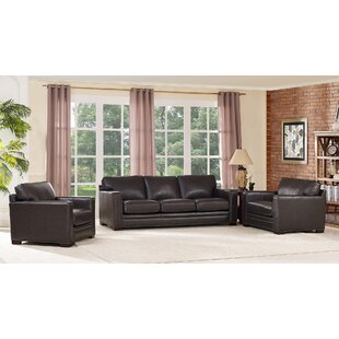 Neil Leather 3 Piece Living Room Set By Trent Austin Design