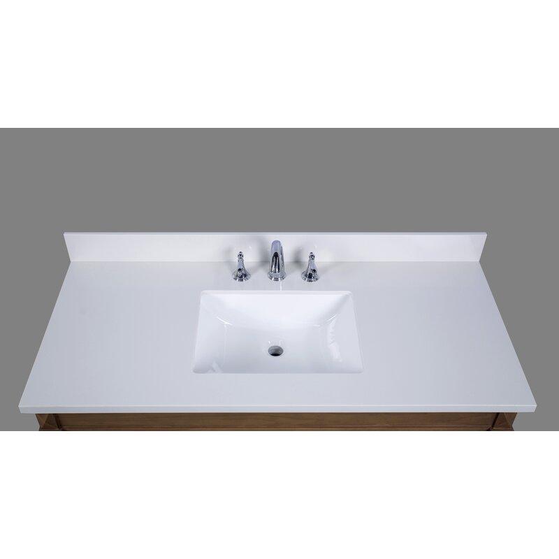 Renaissancevanity Thassos 49 Single Bathroom Vanity Top Wayfair