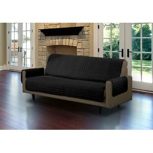 Symple Stuff Microsuede Box Cushion Sofa Slipcover