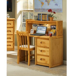 Bargain Kania 3 Drawer 40 W Writing Desk with Hutch ByHarriet Bee