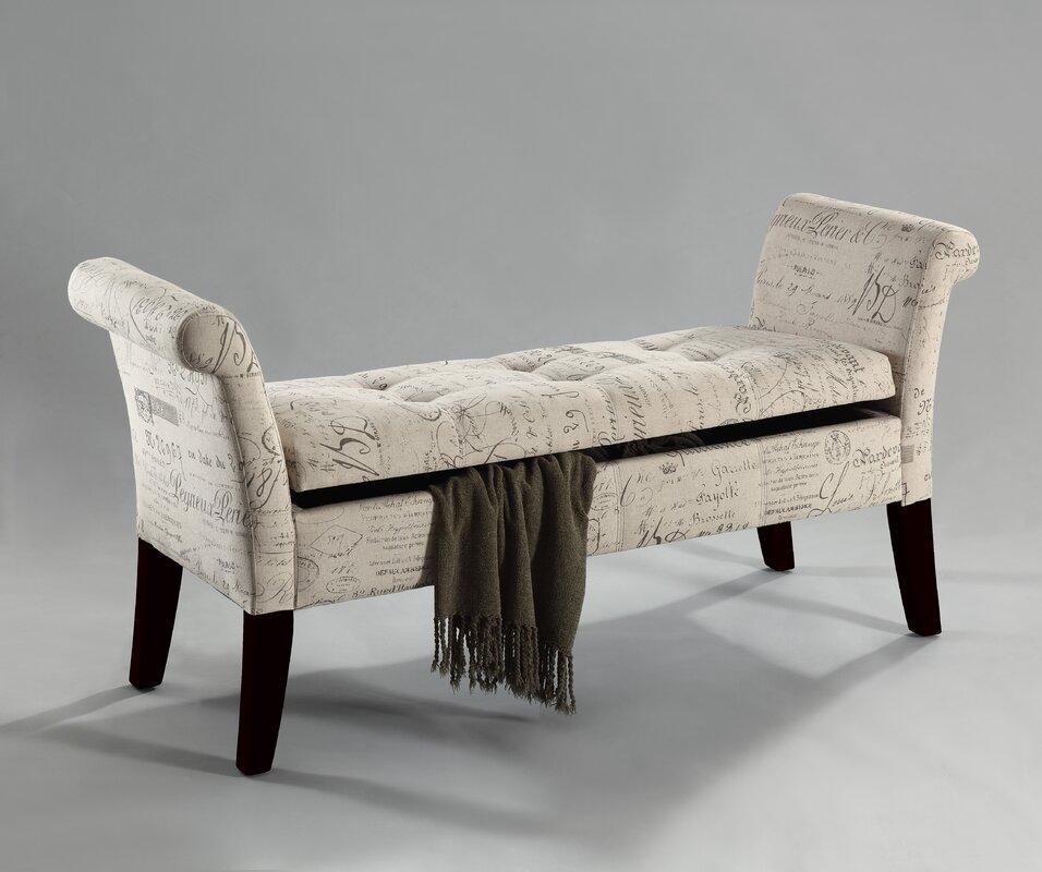 Wonderful Tufted Fabric Storage Bench