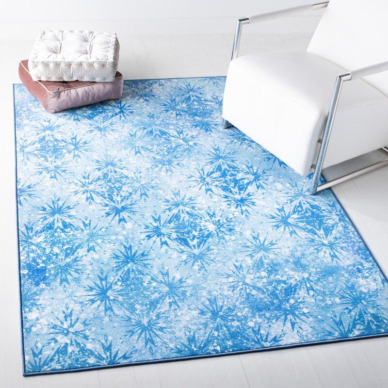 Disney Floral Blue Area Rug Reviews Wayfair