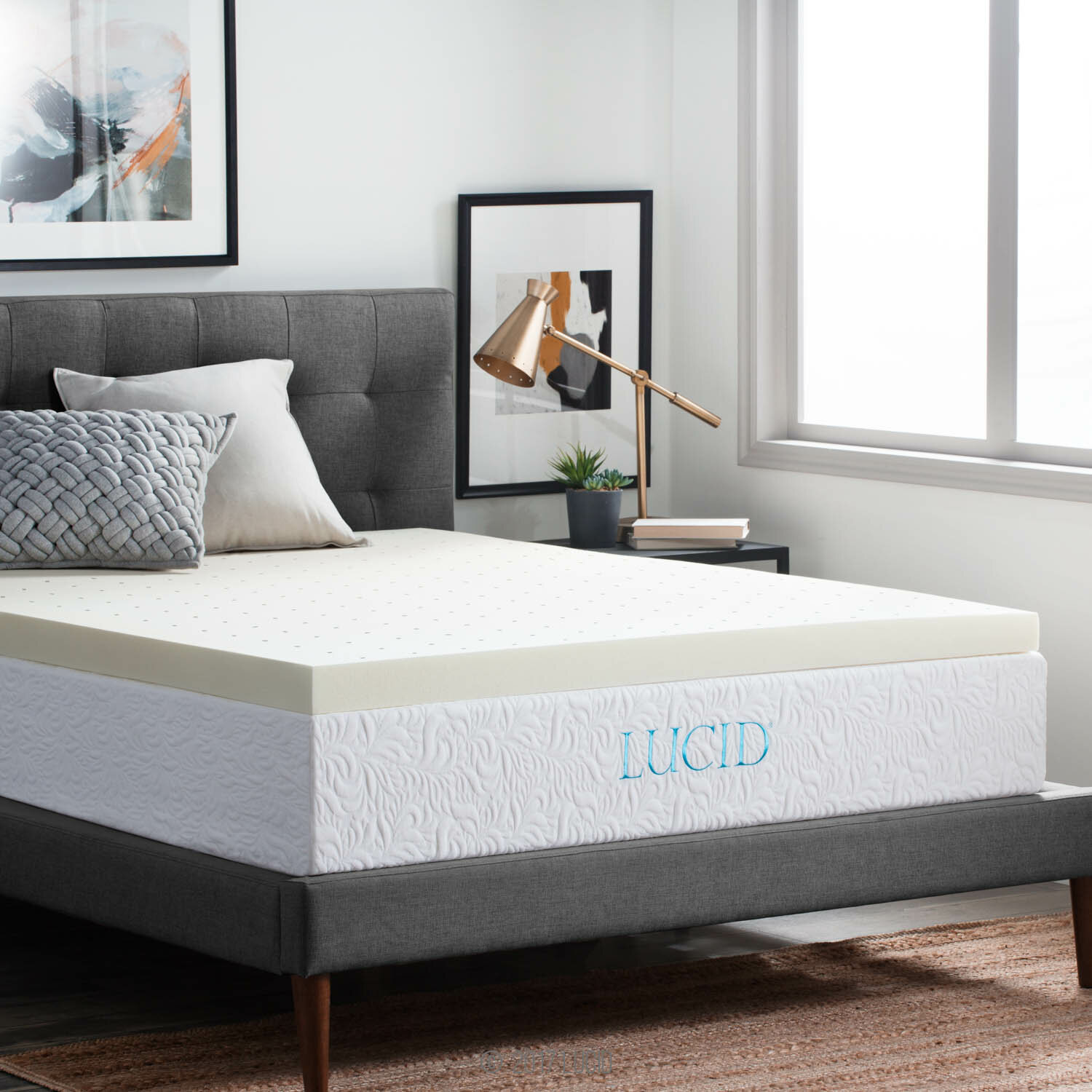 inch loft overstock pad from beautyrest today memory topper shipping comforpedic product mattress bath foam bedding free