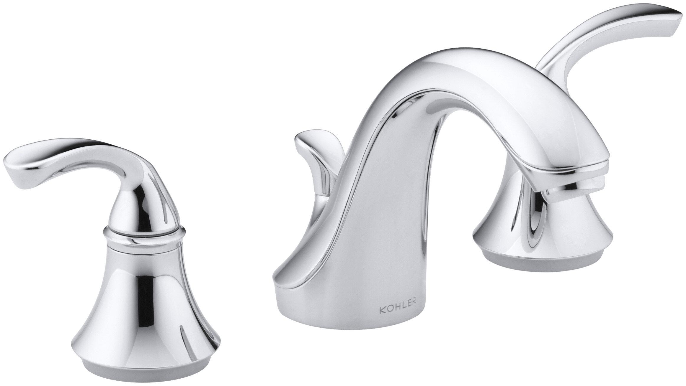 K-10272-4-BN,CP,G Kohler Forté Widespread Bathroom Faucet with Drain ...
