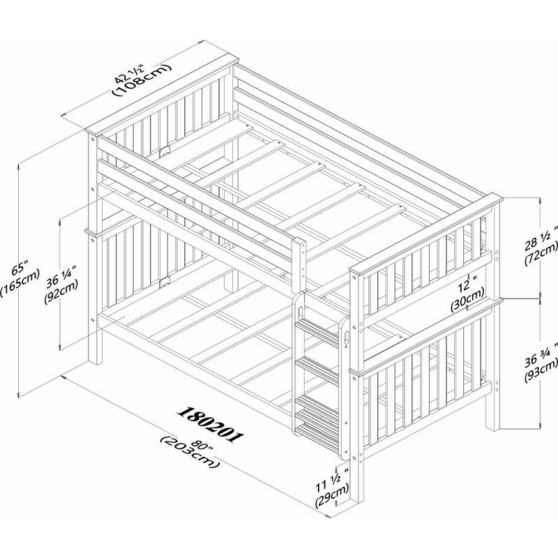 Mack Milo Absecon Twin Over Twin Bunk Bed With Under Bed Storage