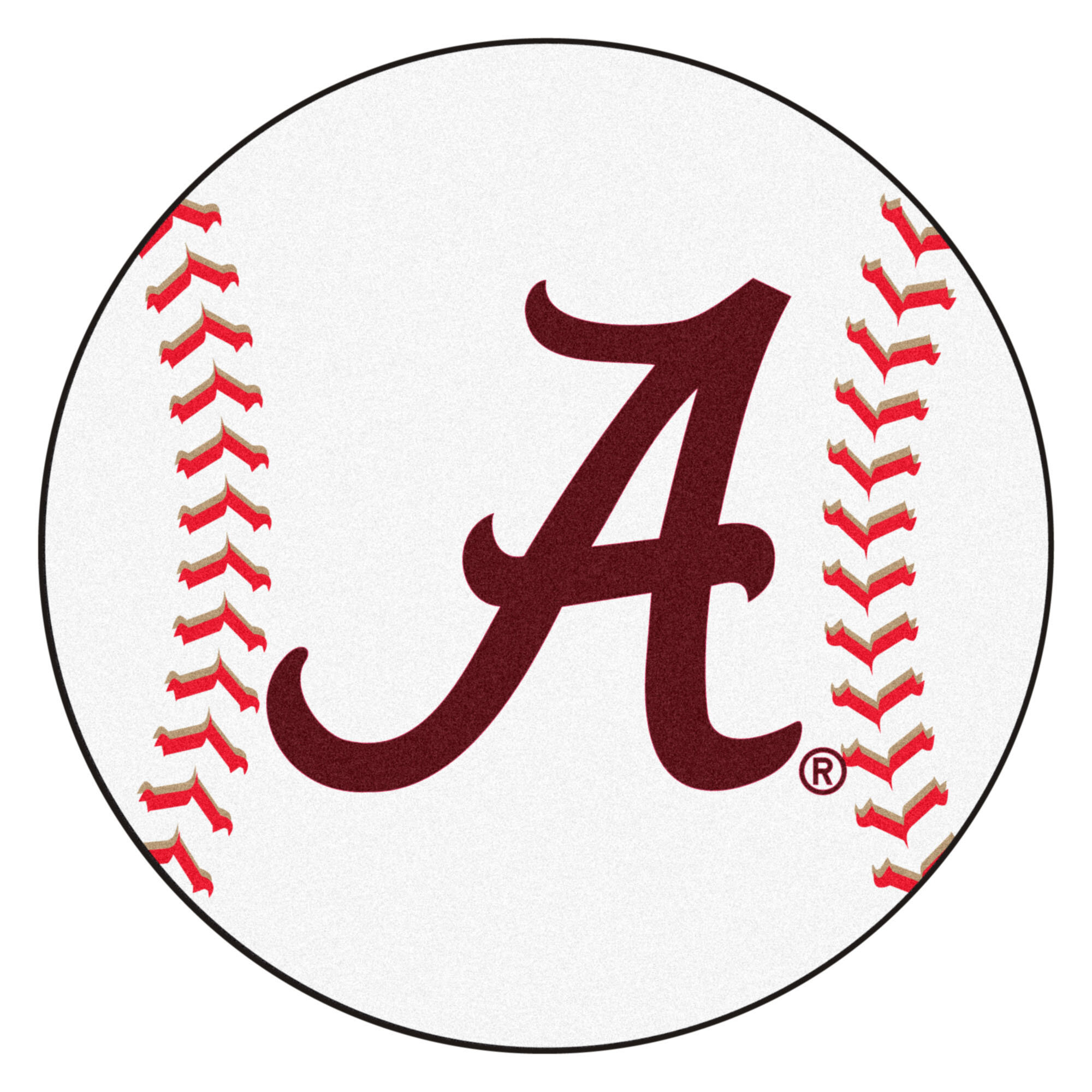 Fanmats Ncaa University Of Alabama Baseball 27 X 27 Non Slip Indoor Mat Wayfair