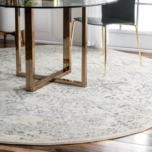 dorothea ivorygray area rug - Round Rugs For Dining Room