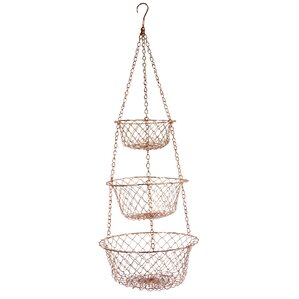 Susannah Copper Hanging Fruit Basket