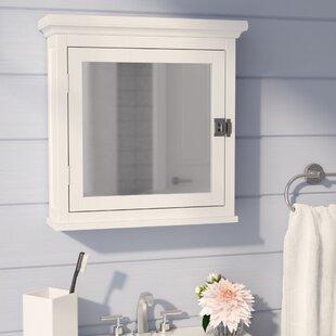 """Sumter 18.75"""" x 19"""" Surface Mount Framed Medicine Cabinet with Adjustable Shelves"""