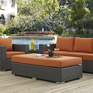 Brayden Studio Tripp Ottoman with Cushion