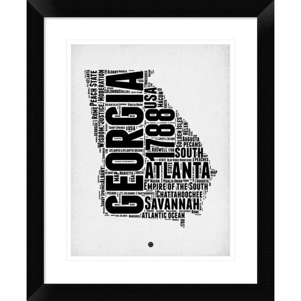 Naxart Georgia Word Cloud 2 Picture Frame Textual Art Print On Paper Wayfair