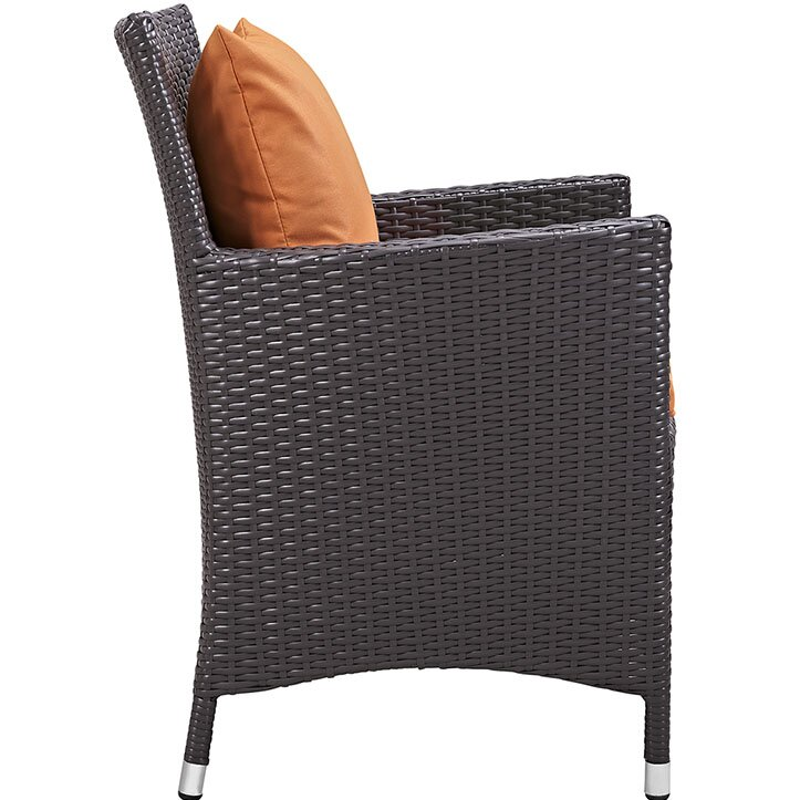 """Sol 72 Outdoor  Brentwood 11 Piece Dining Set with Cushion Table Size: 90.5"""" L x 63"""" W, Fabric Color: Orange"""