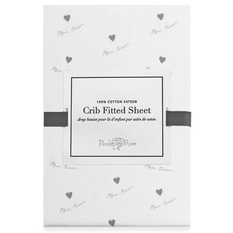 Pemberley Rose Mon Coeur Fitted Crib Sheet Wayfair