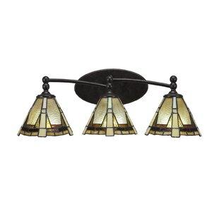 Loon Peak Mullin Tiffany 3-Light Vanity Light