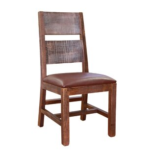 Solid Wood Upholstered Dining Chair (Set ..