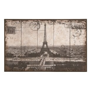 Eiffel Tower Painting Print Plaque
