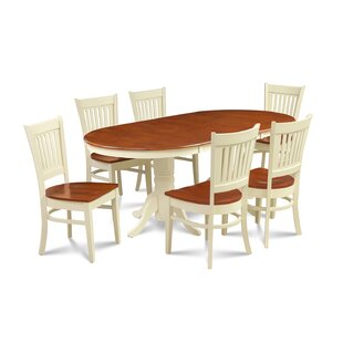 Andover Mills Lunde Traditional 7 Piece Dining Set