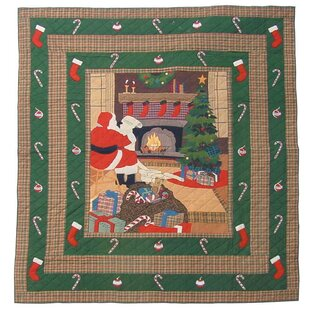 Santa By The Fireside Coverlet Collection