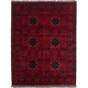 Price comparison One-of-a-Kind Kaler Hand-Knotted 4'11 x 6'6 Wool Red/Black Area Rug By Isabelline