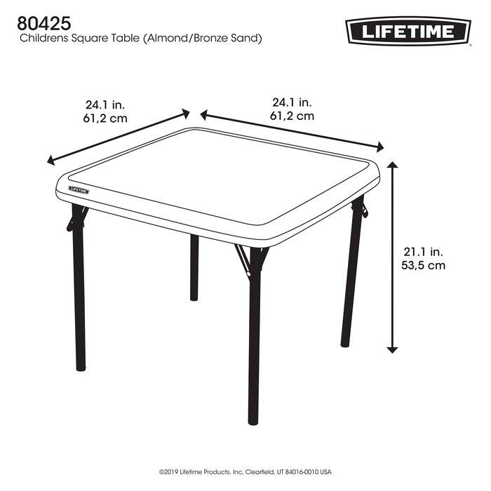 Lifetime Square Folding Table.24 Square Folding Table