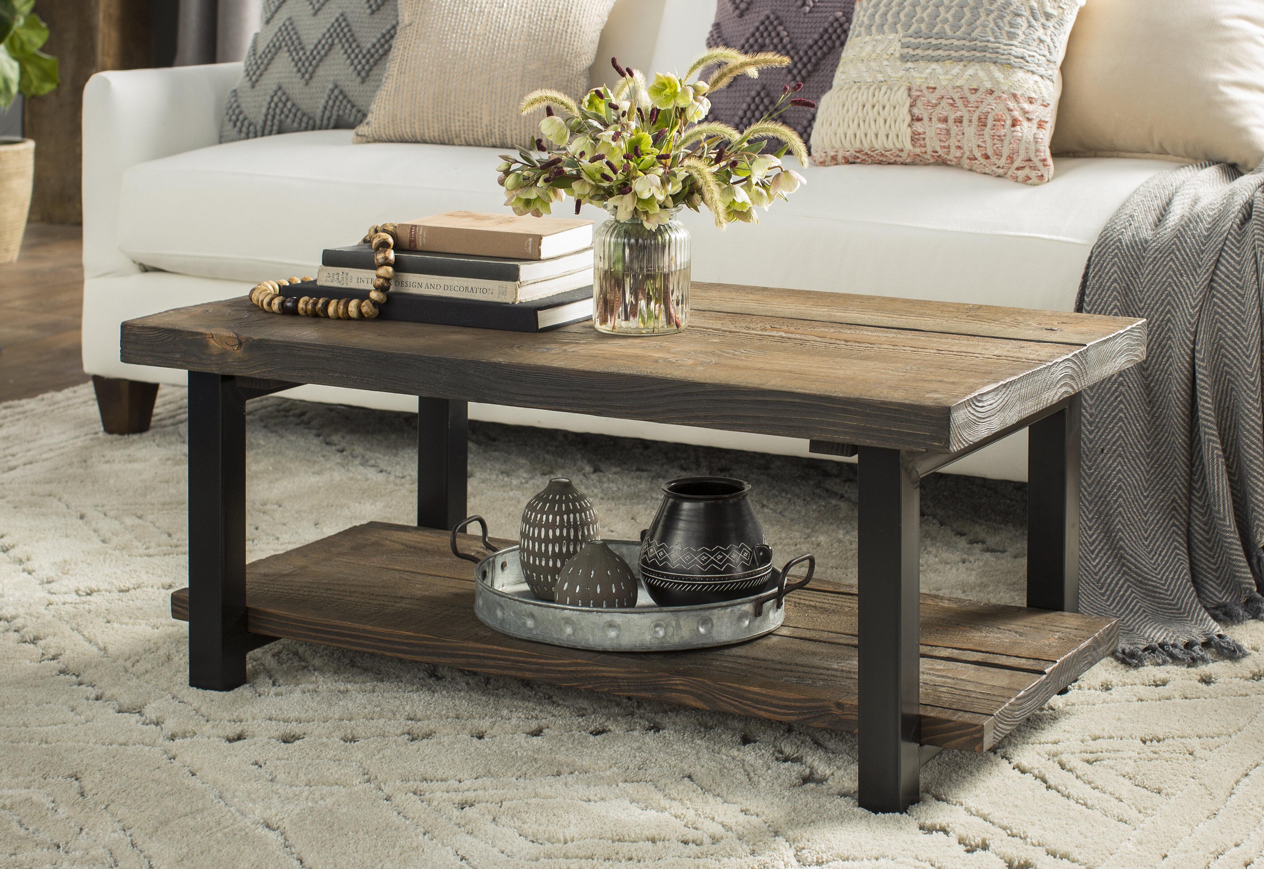 Carved Wood Coffee Table Wayfair