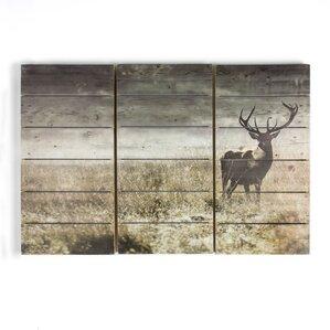 stagu0027 graphic art print on wood u0027