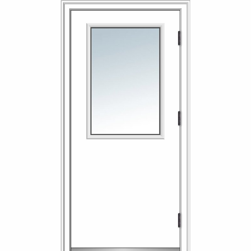 Verona Home Design Primed Steel Prehung Front Entry Door Wayfair