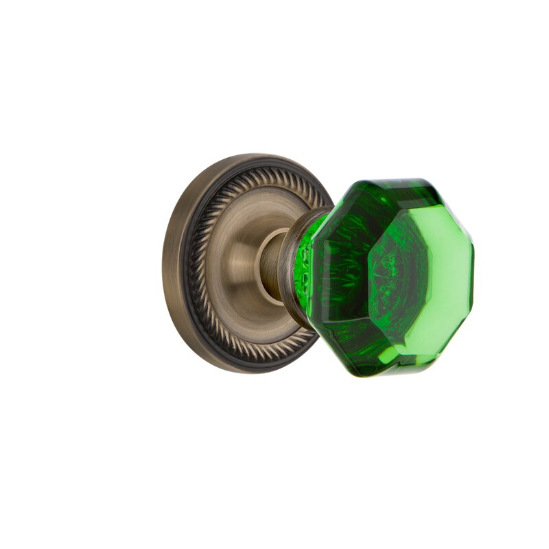 Nostalgic Warehouse Emerald Crystal Waldorf Passage Door Knob With Rope Rosette Reviews Wayfair