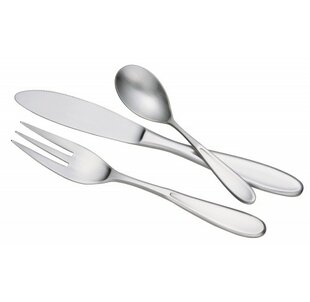 Valeriani 40 Piece 18/10 Stainless Steel Flatware Set, Service for 8
