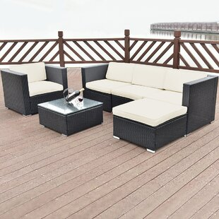 Tori 6 Piece Rattan Sofa Seating Group With Cushions