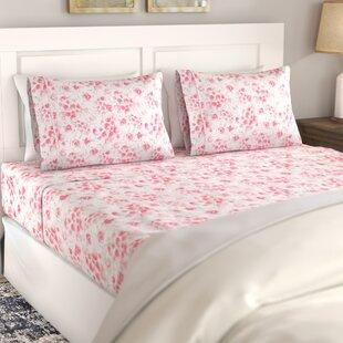 August Grove Avonmore Poppy 400 Thread Count 100% Cotton Sheet Set