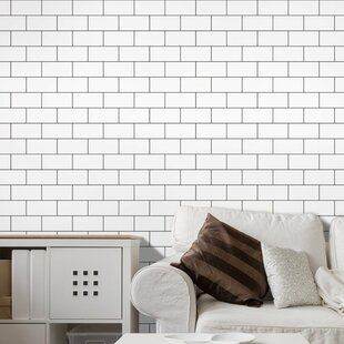 12 inch  x 12 inch  Peel & Stick Subway Tile in White
