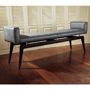 Cowhide Leather Quilted City Bench by Global Views