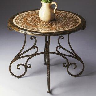 Chrystal End Table by Fleur De Lis Living
