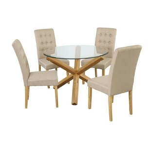 round glass table and 4 chairs wayfair co uk