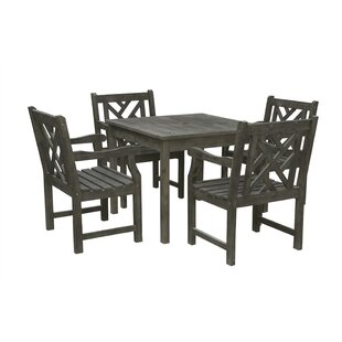 Prattsville 5 Piece Patio Dining Set