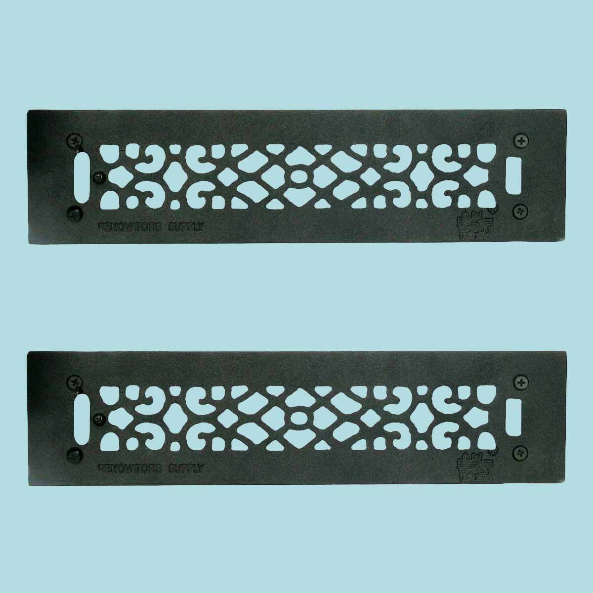 The Renovators Supply Inc 3 5 X 16 Cast Aluminum Floor Heat Register Louver Vent In Black Wayfair