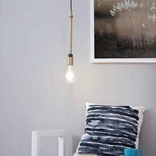 Luka 1-Light Bulb Pendant by 17 Stories