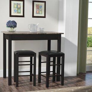 Sheetz 3 Piece Counter Height Dining Set by Winston Porter