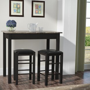 Sheetz 3 Piece Counter Height Dining Set Winston Porter