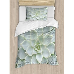 Cactus Plant Flower Zoomed Photo Image Desert Mexican Hot Natural Plant Artwork Duvet Cover Set