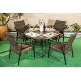 Rodinna Outdoor Patio 5 Piece Dining Set